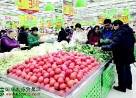 潍坊市民的菜篮子变沉了 ()