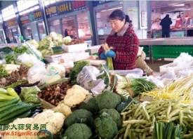 日照:寒冷天气助推菜价上涨 ()