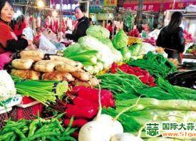 四川内江:本地菜上量  菜价下跌 ()