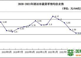 广东清远:秋季蔬菜上市推迟